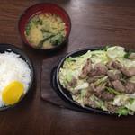 びっくり亭 本家 - ⚫︎焼肉1人前半=1150円 ⚫︎大ご飯 味噌汁付=200円
