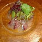 シーフードレストラン アクア - 鯖のカルパッチョ