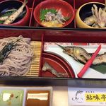 鮎味亭 - 鮎御膳 松竹梅からお選び頂けます。鮎料理は予約が必要です。ホームページをご覧下さい。