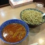スミレ食堂 - 海老トマトつけ麺(大盛り)