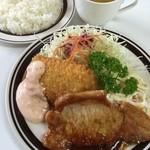 ボン - ポークの生姜焼きとイカフライ700円税別(日替わりランチ)