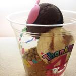サーティワンアイスクリーム - 料理写真:スモールトリプル♡ チョコソルベ/キャラメルリボン/コーヒーコーヒーチップ