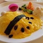 上野グリーンサロン - お子様向けのメニューですね~、めっちゃ甘い「オムライスdeパンダ (1010円)」