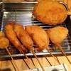 串カツ しろたや - 料理写真:道頓堀セットとジャイアントハンバーグ串カツ!