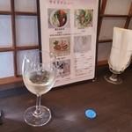 39680419 - 白ワインとメニュー