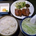 利久 - 牛たん定食1人前(ランチ)1,296円+とろろ