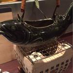 39683646 - 川魚の骨酒(1380円)