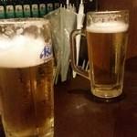 島田屋 - 15.06.30:ビールたち、外は雨なり。
