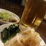 島田屋 - 15.06.30:ビール、ナムル