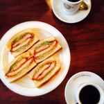 銀座ブラジル - ブレンドコーヒー、元祖ロースカツサンド