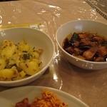 スリランカ料理 ラサハラ - 野菜(ジャガイモ)カレーと、ポークカレー