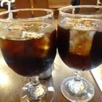 NOEN - アイスコーヒー(500円:税込)・・思ったよりコクと苦みのある珈琲です。 意外に美味しいね、、と言いながら頂きました。