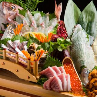 【魚がし活粋】名物!活魚活き造りは必食!