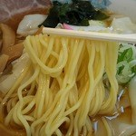 39694378 - 冷しワンタンメン¥870の中細ストレート麺(H27.6.19撮影)