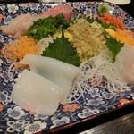 会乃風 - 地魚おまかせ盛り合わせ六種1400円