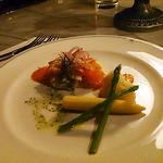 ブルーバイユー・レストラン - シェフのおすすめコース:サーモントラウトのマリネとリゾーニのサラダ