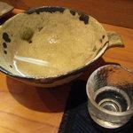 ほむら - 八戸焼の酒器で供される地酒。