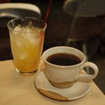 六甲山カフェ - 登り コーヒーとゆず茶ICE