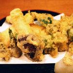 つく田 - 春野菜の天麩羅