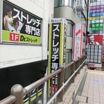 珈琲 はなや - 立川駅北口の2階通路からだと、この真下になります。