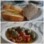 RIGOLETTO ROTISSERIE AND WINE - 鶏レバーのパテ&シシリアングリーンオリーブ