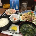 安兵衛 - お昼の鰹のタタキ定食♡