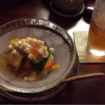 日本料理 すがわら - 野菜とポン酢のジュレ