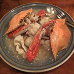 39706465 - 看板メニューは渡り蟹の炒め。