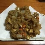 めん処 ふるふる - 蕎麦粉の衣の根菜のかき揚げ