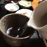 めん処 ふるふる - 蕎麦湯注入