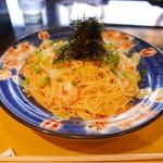 先斗入ル - 九条葱と海老とたらこバター京風(950円)