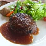 39718064 - 早来(はやきた)鈴木牛のハンバーグステーキ ¥1,800 シャリアピンソースにしました♪