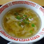 李さんの店 - 「今週の定食」中華スープ