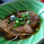 李さんの店 - 「今週の定食」豚バラナンコツ煮物