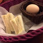 39727566 - ハムサンド&ゆで卵