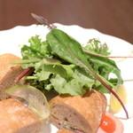 ダマン リュミエール - 野菜とハムのサンドイッチのサラダ '15 5月中旬