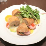 ダマン リュミエール - 野菜とハムのサンドイッチ (850円) '15 5月中旬