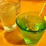 オリオン食堂 - 泡盛(多分残波)500円