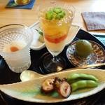 39731818 - お昼のおまかせコース4,200円(税別)前菜