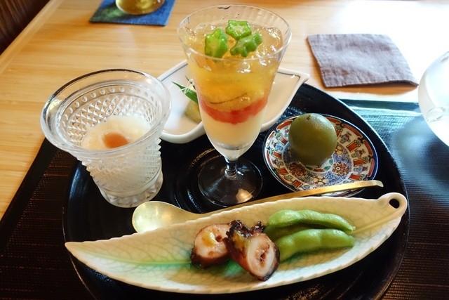 京料理かねき - お昼のおまかせコース4,200円(税別)前菜