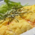 うふ家 - 明太子チーズオムレツ637円