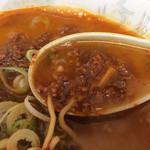 竜園 - 辛い肉味噌