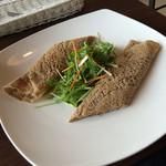 ビーラインカフェ - そば粉のガレット 明太もちチーズ ¥1,000 plus コーヒー ¥300
