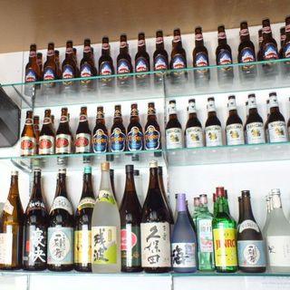 飲み放題コースは瓶ビール以外全て飲める♪