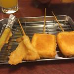 海鮮 漁師の台所 - 《串カツ》アスパラ・きす・チーズ