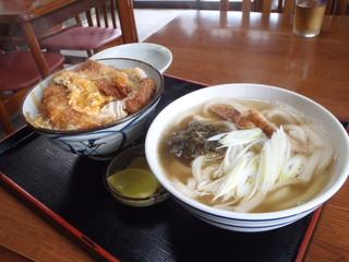 満潮 - うどん400円とカツ丼600円