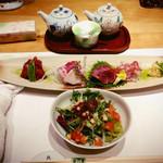菅乃屋 - ランチの馬刺四種食べ比べセット2700円の馬刺