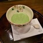 喜久水庵 - サービスの抹茶