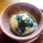 39754879 - 岩牡蠣と青海苔の牡蠣出汁漬け