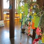 カフェディシィ - 7月7日だったので、笹の葉飾りが・・・。